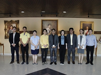 The executives team from Haikou University of Economics visited the Faculty of Fine and Applied Arts. - SSRU