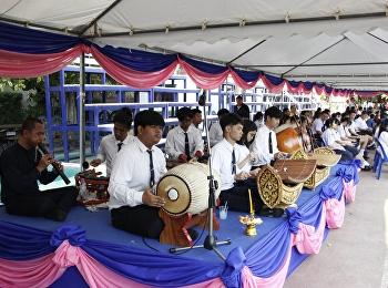 สาขาวิชาดนตรี บรรเลงวงษ์ปี่พาทย์ ในพิธีบวงสรวง 159 ปี วันคล้ายวันพระราชสมภพ สมเด็จพระนางเจ้าสุนันทากุมารีรัตน์ฯ